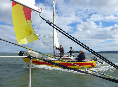 Yellow Peril powered by North Sails winning the Puppeteer 22 Nationals in 2019