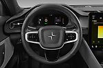 Car pictures of steering wheel view of a 2021 Polestar Polestar-2 Pilot-Plus 5 Door Hatchback Steering Wheel