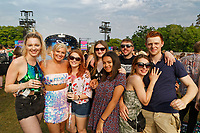 Pictured: A small party of young people enjoy the concert. Saturday 26 May 2018<br /> Re: BBC Radio 1 Biggest Weekend at Singleton Park in Swansea, Wales, UK.