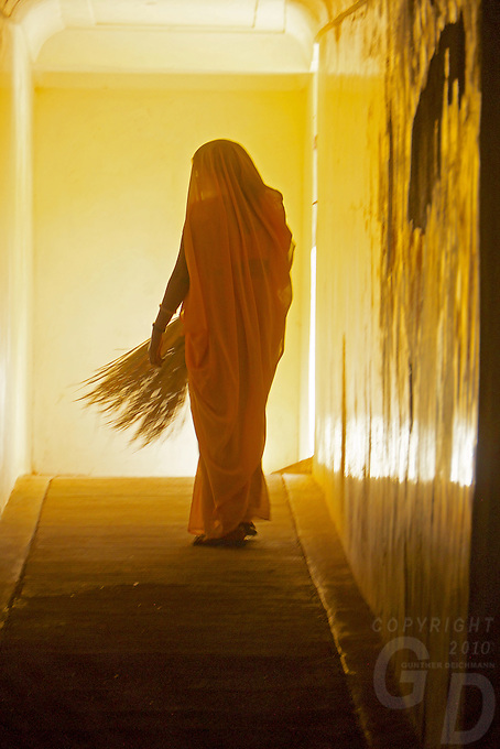 """""""Walk into light"""" In the corridors of the Amer Fort Jaipur Rajasthan, India"""