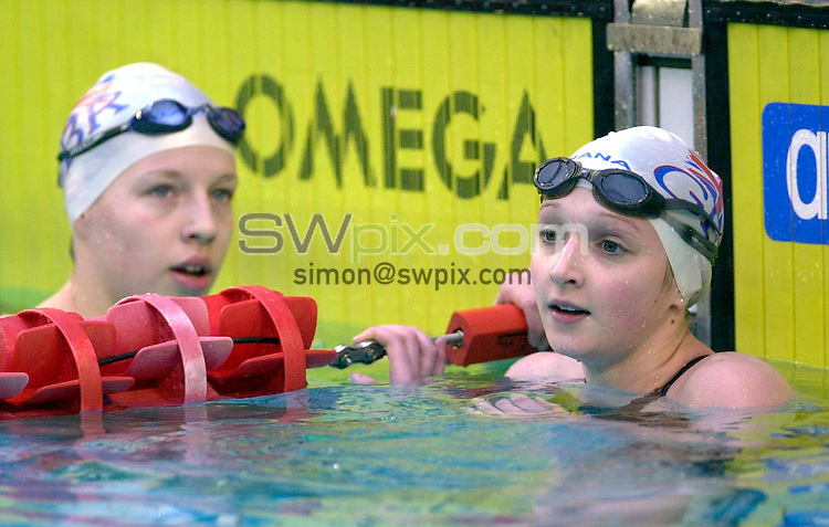 Pix:Ben Duffy/SWpix.com. FINA World Cup Swimming-Paris, Piscine George Vallerey....17/01/2003...COPYRIGHT PICTURE>>SIMONWILKINSON>>01943 436649>>..Great Britains Caitlin McClatchey