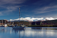 The Caledonian Canal and the Grey Corries from Gairlochy, Lochaber