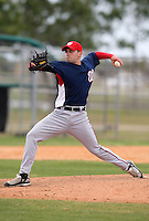 March 22, 2010:  Pitcher Austin Garrett of the Washington Nationals organization during Spring Training at the Carl Barger Training Complex in Melbourne, FL.  Photo By Mike Janes/Four Seam Images