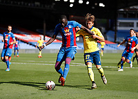 5th September 2020; Selhurst Park, London, England; Pre Season Friendly Football, Crystal Palace versus Brondby; Cheikhou Kouyate of Crystal Palace holds off the challenge from Simon Hedlund of Brondby
