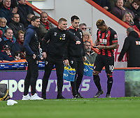Bournemouth manager Eddie Howe  gives instructions to Bournemouth's Jordon Ibe<br /> <br /> Photographer David Horton/CameraSport<br /> <br /> The Premier League - Bournemouth v Newcastle United - Saturday 16th March 2019 - Vitality Stadium - Bournemouth<br /> <br /> World Copyright © 2019 CameraSport. All rights reserved. 43 Linden Ave. Countesthorpe. Leicester. England. LE8 5PG - Tel: +44 (0) 116 277 4147 - admin@camerasport.com - www.camerasport.com
