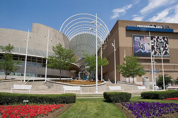 Denver Performing Arts Complex, Denver, Colorado, USA .  John offers private photo tours in Denver, Boulder and throughout Colorado. Year-round.