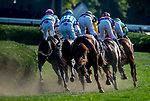 SARATOGA SPRINGS, NY - AUGUST 25: Glorious Empire  #1, ridden by jockey Julien Leparoux, wins the Sword Dancer Srakes on Travers Stakes Day at Saratoga Race Course on August 25, 2018 in Saratoga Springs, New York. (Photo by Scott Serio/Eclipse Sportswire/Getty Images)