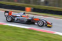 Matheus Leist of Double R Racing in the BRDC British F3 Championship during the British GT Championship Round 1 practice and qualifying at Brands Hatch, Longfield, England on 16 April 2016. Photo by David Horn.