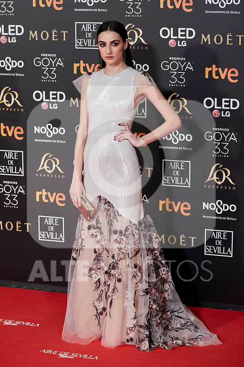 Sandra Escacena attends to 33rd Goya Awards at Fibes - Conference and Exhibition  in Seville, Spain. February 02, 2019. (ALTERPHOTOS/A. Perez Meca)