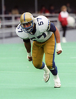 John Sturdivant Winnipeg Blue Bombers 1986. Photo F. Scott Grant