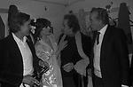 """FRANCO SILVA, MITA MEDICI , DOMENICO MODUGNO E MASSIMO SERATO<br /> PRIMA DEL """"IL GATTOPARDO """" TEATRO BRANCACCIO ROMA 1979"""