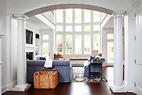 Bright modern classic living room