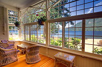 Sitting room at Lake Crescent Lodge. Olympic National Park. Washington