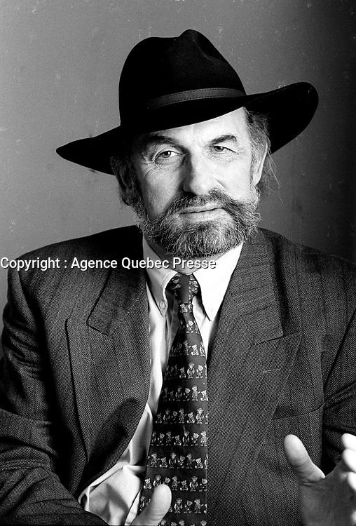 Montreal (Qc) Canada - 1997 File Photo - Guy Bouthillier, President Societe Saint-Jean Baptiste du Quebec