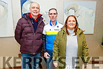 Anthony O'Halloran (Tralee), Paul and Ann Lynch (Tralee) at the Lacey Cup Cycling on Sunday morning.