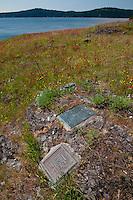 Lew and Tib Dodd Grave Site and Plaques, Yellow Island, San Juan Islands, Washington, US
