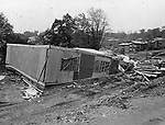 Builders of this home-to-be on Kaynor Drive in Waterbury are forced to start over after damage caused by heavy rains and flood waters June 29, 1973.