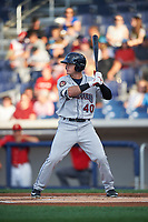 Mahoning Valley Scrappers center fielder Austen Wade (40) at bat during a game against the Williamsport Crosscutters on July 8, 2017 at BB&T Ballpark at Historic Bowman Field in Williamsport, Pennsylvania.  Williamsport defeated Mahoning Valley 6-1.  (Mike Janes/Four Seam Images)