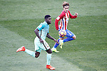 Atletico de Madrid's Antoine Griezmann (r) and FC Barcelona's Samuel Umtiti during La Liga match. February 26,2017. (ALTERPHOTOS/Acero)