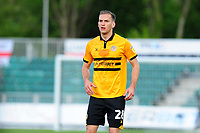 Mickey Demetriou of Newport County during the Sky Bet League Two Play-off Semi Final: First Leg match between Newport County and Mansfield Town at Rodney Parade in Newport, Wales, UK.  Thursday 09 May 2019