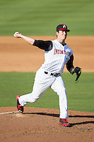 Kannapolis Intimidators starting pitcher Tyler Danish (17) in action against the Hickory Crawdads at CMC-Northeast Stadium on May 4, 2014 in Kannapolis, North Carolina.  The Intimidators defeated the Crawdads 3-1.  (Brian Westerholt/Four Seam Images)