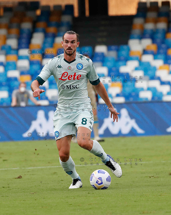 Fabian Ruiz during a friendly match Napoli - Pescara  at Stadio San Paoli in Naples