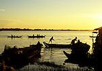 Tonle Sap Sunrise 05 - Sunrise over the Tonle Sap Lake at Chong Kneas floating village, Siem Reap, Cambodia