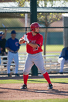 Los Angeles Angels center fielder Nonie Williams (27) during a Minor League Spring Training game against the Chicago Cubs at Sloan Park on March 20, 2018 in Mesa, Arizona. (Zachary Lucy/Four Seam Images)
