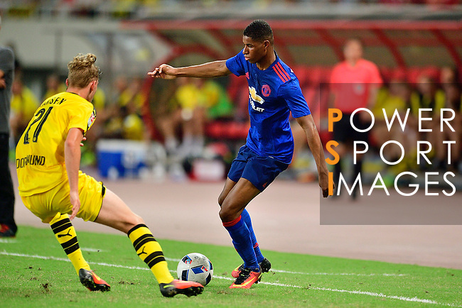 Manchester United forward Marcus Rashford during the International Champions Cup China 2016, match between Manchester United vs Borussia  Dortmund on 22 July 2016 held at the Shanghai Stadium in Shanghai, China. Photo by Marcio Machado / Power Sport Images