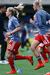 UEFA Women's Champions League 2018/2019.<br /> Semi Finals<br /> FC Barcelona vs FC Bayern Munchen: 1-0.<br /> Mandy Islacker & Fridolina Damnjanovic.