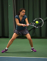 Rotterdam, The Netherlands, 15.03.2014. NOJK 14 and 18 years ,National Indoor Juniors Championships of 2014, Phillis Vanenburg (NED)<br /> Photo:Tennisimages/Henk Koster