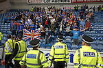 Rangers fans staging a sit in protest after the match at Ibrox against Charles Green