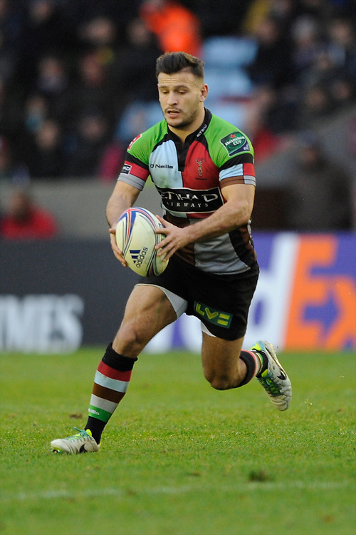Danny Care of Harlequins in action during the Heineken Cup match between Harlequins and Racing Metro 92 at the Twickenham Stoop on Sunday 15th December 2013 (Photo by Rob Munro)