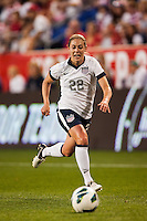 United States (USA) defender Meghan Klingenberg (22). The women's national team of the United States defeated the Korea Republic 5-0 during an international friendly at Red Bull Arena in Harrison, NJ, on June 20, 2013.