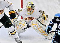 2 December 2011: University of Vermont Catamount goaltender Rob Madore, a Senior from Pittsburgh, PA, in action against the University of Maine Black Bears at Gutterson Fieldhouse in Burlington, Vermont. The Catamounts fell to the Black Bears 6-4 in the first game of their 2-game Hockey East weekend series. Mandatory Credit: Ed Wolfstein Photo