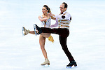 Nelli Zhiganshina and Alexander Gazsi of Germany compete in the Figure Skating Team Ice Dance Short Program during the 2014 Sochi Olympic Winter Games at Iceberg Skating Palace on February 8, 2014 in Sochi, Russia. Photo by Victor Fraile / Power Sport Images