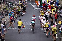 Nils Politt (GER/Katusha Alpecin) and Mathias Frank (SUI/AG2R La Mondiale) up the Col du Galibier (HC/2622m/23km@5.1%)<br /> <br /> Stage 18: Embrun to Valloire (208km)<br /> 106th Tour de France 2019 (2.UWT)<br /> <br /> ©kramon