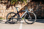 Trek Madone one of the team bikes of the Trek–Segafredo 2021 womens team during their winter training camp. 18th January 2021.<br /> Picture: Trek Factory Racing | Cyclefile<br /> <br /> All photos usage must carry mandatory copyright credit (© Cyclefile | Trek Factory Racing)