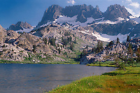 The Minarets from Ediza Lake<br />
