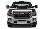Car photography straight front view of a 2018 GMC Sierra 3500HD 2WD Crew Cab Standard Box SLT 4 Door Pick Up
