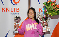 March 15, 2015, Netherlands, Rotterdam, TC Victoria, NOJK, Winner girls 14 years Lian Tran<br /> Photo: Tennisimages/Henk Koster