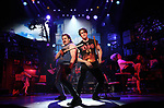 """Mitchell Jarvis and CJ Eldred during the tech rehearsal for """"Rock of Ages"""" 10th Anniversary Production on June 13, 2019 at the New World Stages in New York City."""