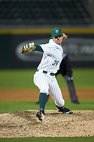 Charlotte 49ers relief pitcher Spencer Ard (39) in action against the Clemson Tigers at BB&T BallPark on March 26, 2019 in Charlotte, North Carolina. The Tigers defeated the 49ers 8-5. (Brian Westerholt/Four Seam Images)