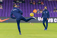 ORLANDO, FL - JANUARY 18: Vlatko Andonovski of the USWNT controls the ball before a game between Colombia and USWNT at Exploria Stadium on January 18, 2021 in Orlando, Florida.