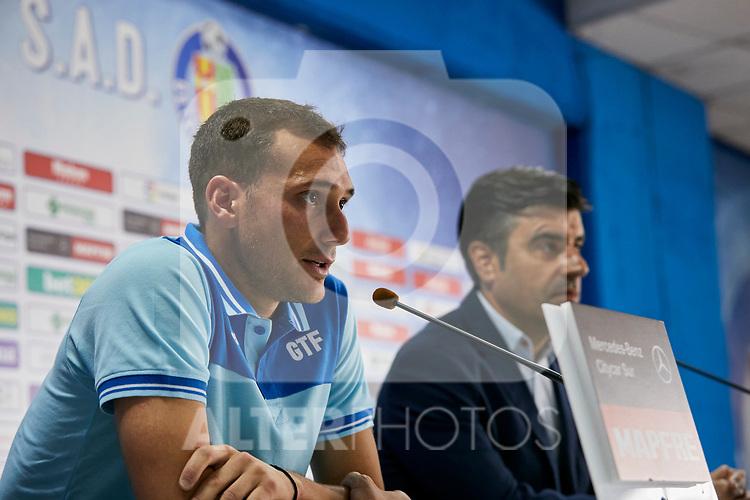 Getafe CF's Sebastian Cristoforo during his official presentatio at Coliseum Alfonso Perez in Getafe, Spain. September 04, 2018. (ALTERPHOTOS/A. Perez Meca)