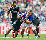 New Zealand play Samoa in the Cup Quarter Final on Day 3 of the Cathay Pacific / HSBC Hong Kong Sevens 2013 on 24 March 2013 at Hong Kong Stadium, Hong Kong. Photo by Xaume Olleros / The Power of Sport Images