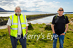 Enjoying a stroll at the Lock Gates in Lohercannon on Tuesday, l to r: Mikey Creagan and Francis O'Shea.