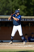 Steven D'Eusanio (16) (Youngstown State) of the Martinsville Mustangs at bat against the High Point-Thomasville HiToms at Finch Field on July 26, 2020 in Thomasville, NC.  The HiToms defeated the Mustangs 8-5. (Brian Westerholt/Four Seam Images)