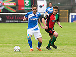 Glentoran v St Johnstone…. 09.07.16  The Oval, Belfast  Pre-Season Friendly<br />Steven MacLean and Jack McLaren<br />Picture by Graeme Hart.<br />Copyright Perthshire Picture Agency<br />Tel: 01738 623350  Mobile: 07990 594431