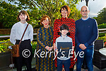 """Bríd O'Connor launching her book """"Spark Stories to Ignite Body, Mind and Soul"""" with her family on Friday in the Rose Hotel,  l to r:  Laoise O'Connor, Mary Fitzgerald (Comfort for Chemo), Kevin, Brid and Tiernan O'Connor."""